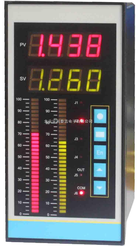 双光柱双通道双数显温度压力测控仪