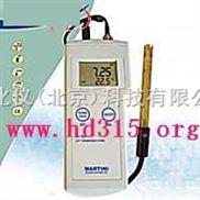 便携式pH测定仪/便携式酸度计/温度计/PH/temp计 型号:milwaukeech/M