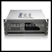 4U工控机箱 4U网络游戏服务器4U服务器机箱 高档银色半开门 4U450银色丝印