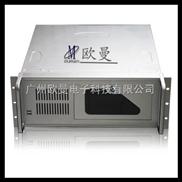 4U工控机箱、4U服务器机箱、4U防火墙服务器、高档银色半开门 4U450银色无丝印