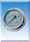 轴向带边耐震不锈钢压力表YN-60B/75B/100B/150B