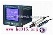 在线式工业PH计(同时显示温度,带历史记录功能) 型号:YTDR-PHS-8B2000+PHG-99