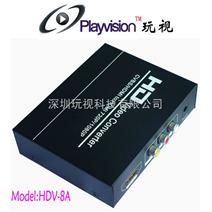 AV+HDMI转HDMI,S-video转HDMI,s端子转HDMI,模拟转数字,标清转高清,HDV