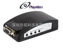 BNC转VGA转换器,CVBS转VGA,视频转VGA,安防专用,玩视科技,HDV200-B