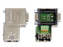 带弹簧接线端子的PROFIBUS总线连接器