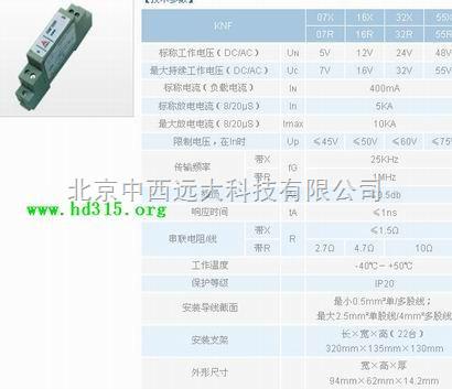 二线制过程控制信号防雷栅(KNF07R,有多种系列,上传图像只是代表外观,量大浮) 型号:KNDZ-